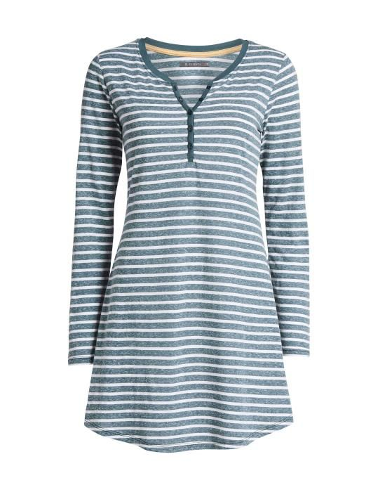 Essenza Acacia Stripe Grey Nightdress long sleeve S