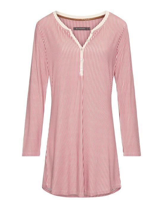 Essenza Acacia Striped Rabarber Nightdress long sleeve XS