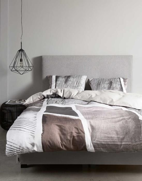 Essenza Arty Grey Duvet cover 155 x 220