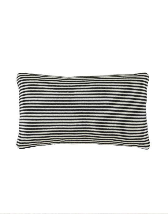 Marc O'Polo Arvid Black/chalk Cushion 30 x 50