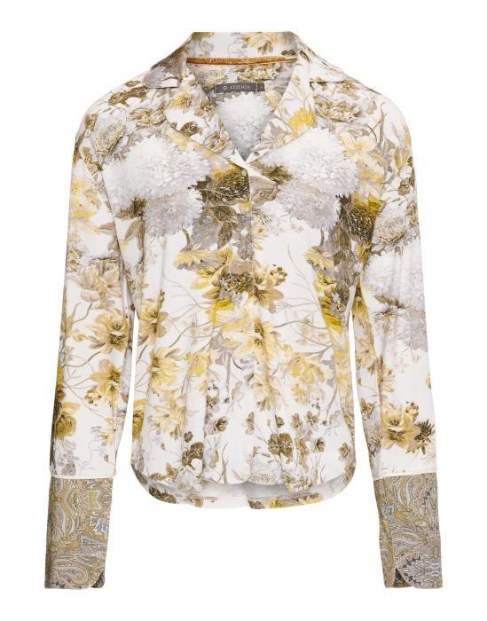 Essenza Ava Maily Boheme Olive Pyjama top long sleeve XS