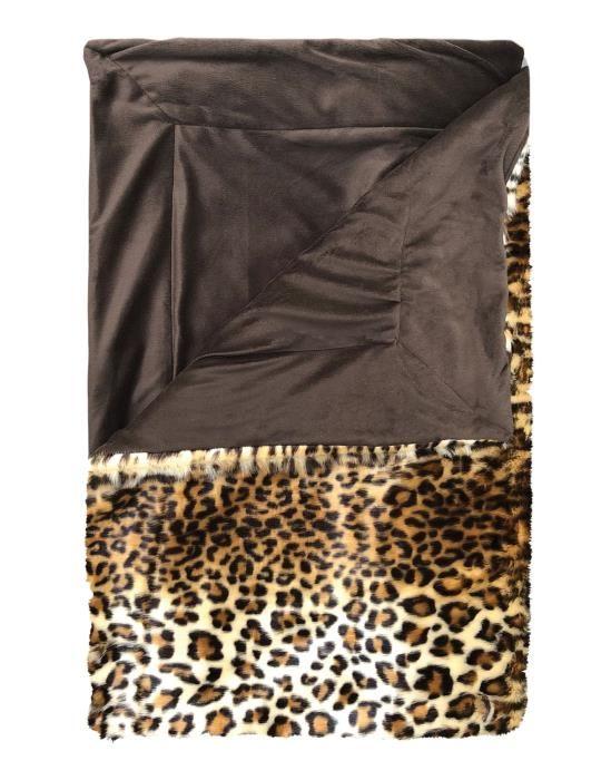 Essenza Bory Furry Brown Plaid 150 x 200 cm