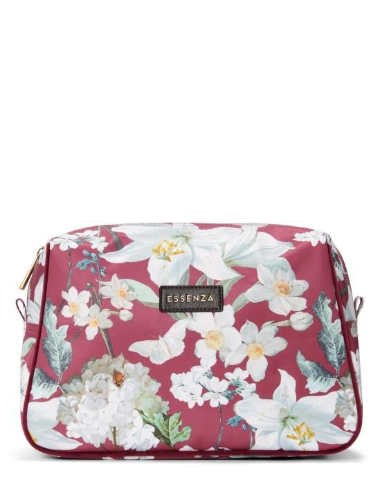 ESSENZA Carole Rosalee Plum Cosmetic Bag
