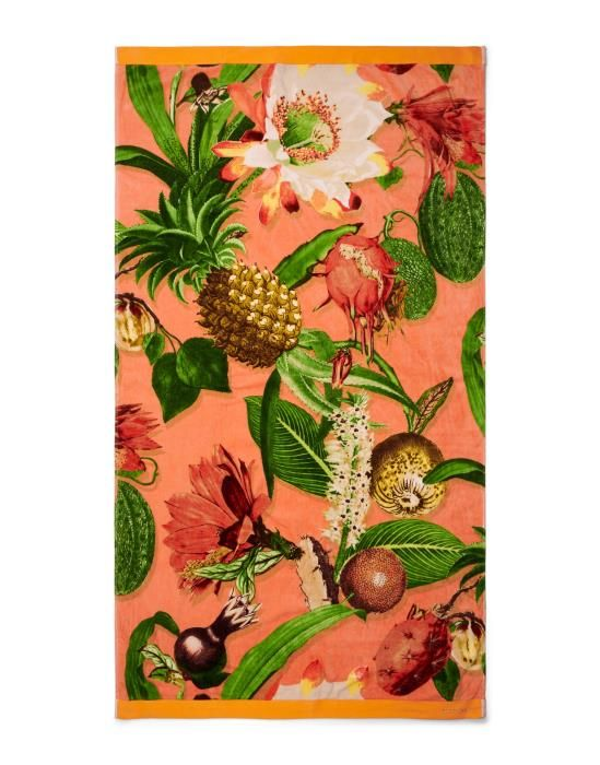 Essenza Catherine Coral Beach towel 100 x 180