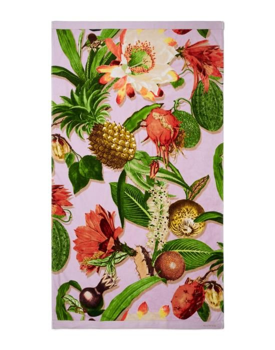 Essenza Catherine Lilac Beach towel 100 x 180