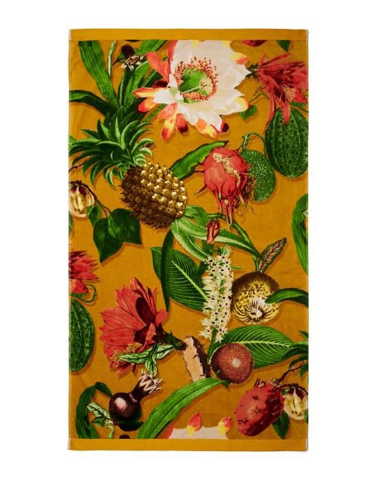 Essenza Catherine Mustard Beach towel 100 x 180
