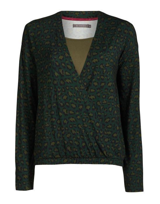 Essenza Elien Bory Green Top Long Sleeve XS