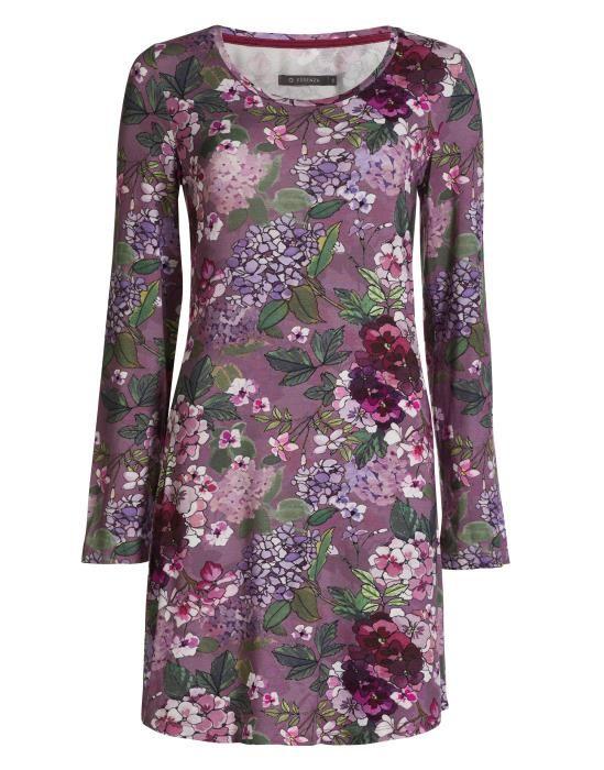 Essenza Elm Diana Lilac Nightdress long sleeve XS