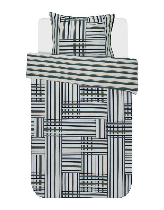 Essenza Evie Green Duvet cover 135 x 200