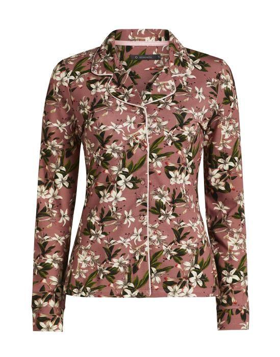Essenza Fenna Verano Dusty Rose Pyjama top long sleeve S