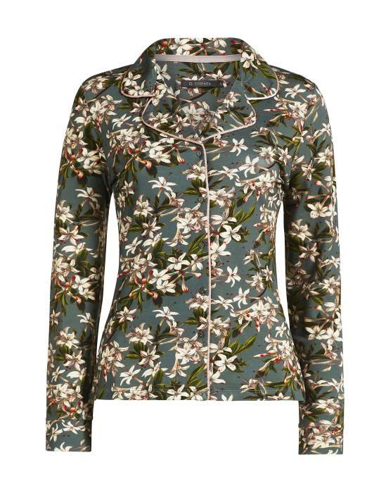 Essenza Fenna Verano Green Pyjama top long sleeve S