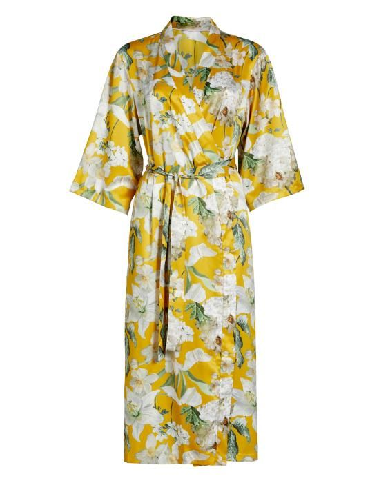 Essenza Ilona Rosalee Yellow Kimono XS