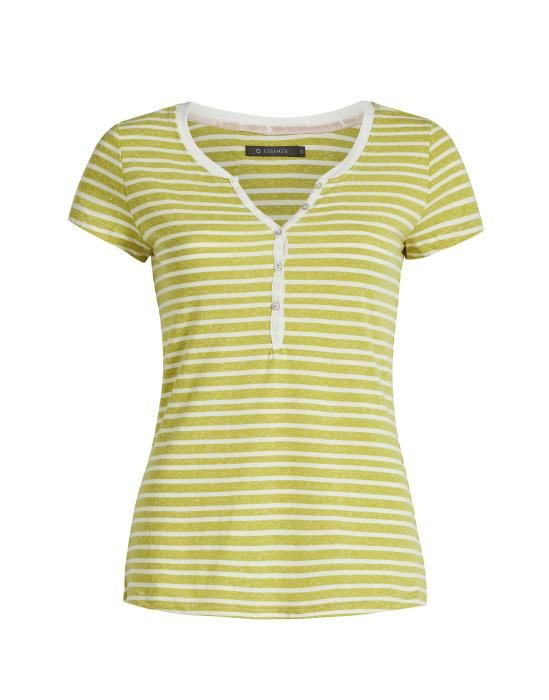 Essenza Jimmies Stripe Yellow Top Short Sleeve XS