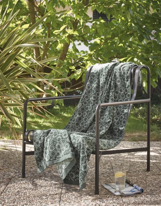 Marc O'Polo Kahli Green Beach towel 100 x 180