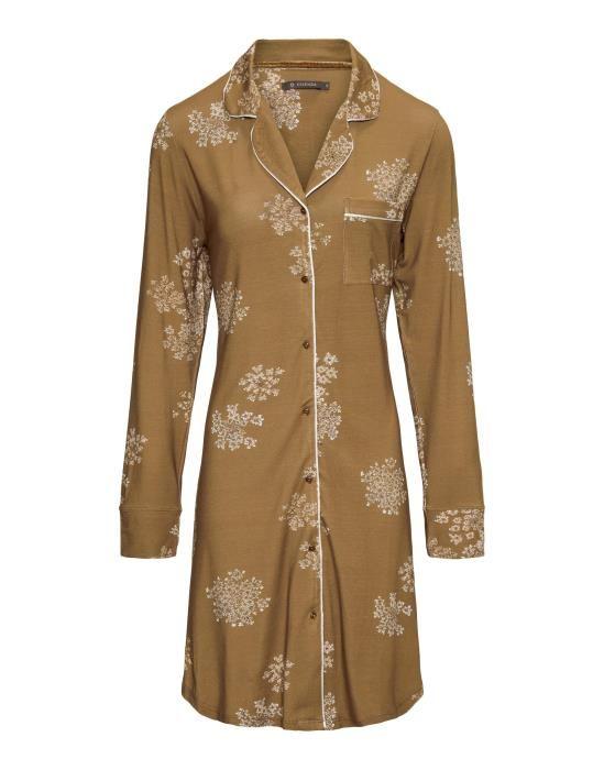 Essenza Laka Lauren Cinnamon Nightdress long sleeve XS