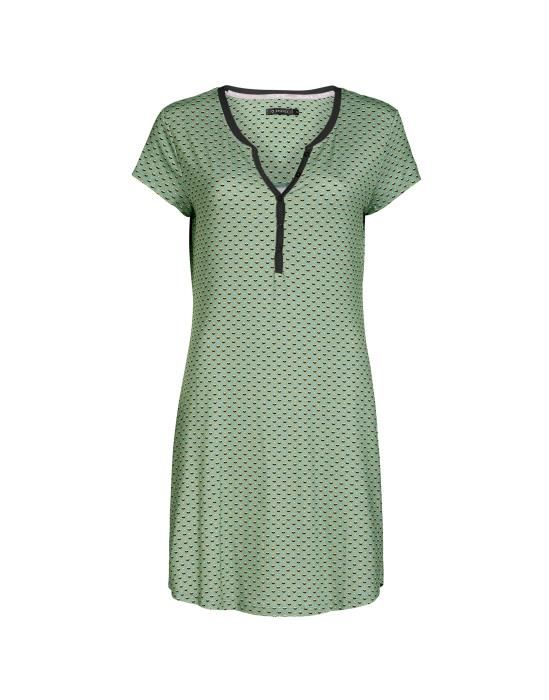 Essenza Lois Mini Green Nightdress short sleeve L