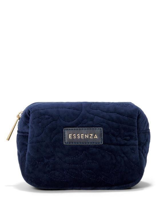 Essenza Lucy Velvet Indigo blue Make-up Bag Small