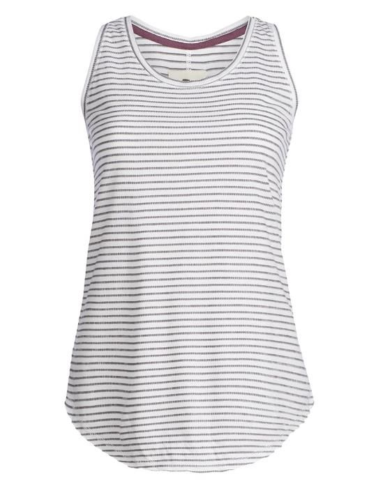 Essenza Mosa Zip Stripe Grey Top Sleeveless XS