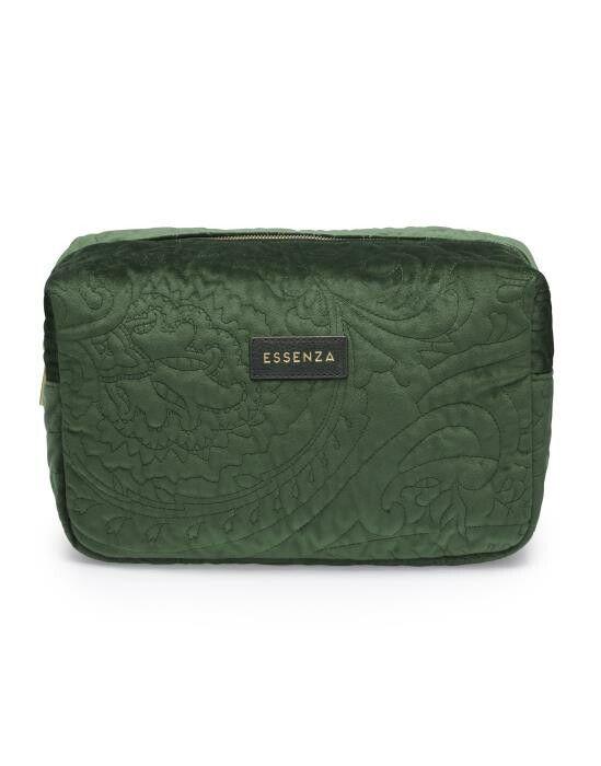 Essenza Pepper Velvet Green Make-up Bag Large