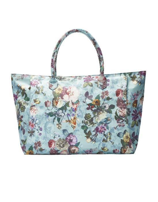 Essenza Puck Fleur Dusty Aqua Shoulder Bag Large