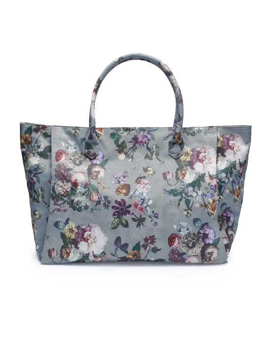 ESSENZA Puck Fleur Faded Blue Shoulder Bag Large