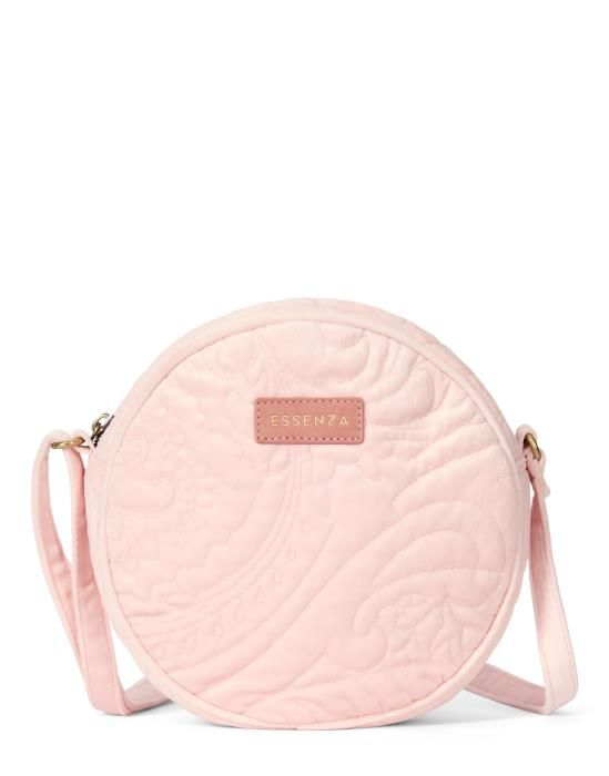 Essenza Reese Velvet Blush Shoulder Bag One Size