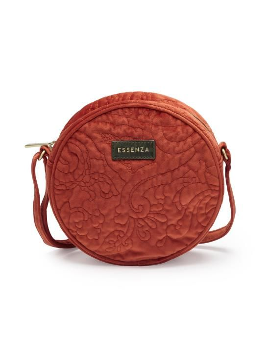 Essenza Reese Velvet Chili Shoulder Bag One Size