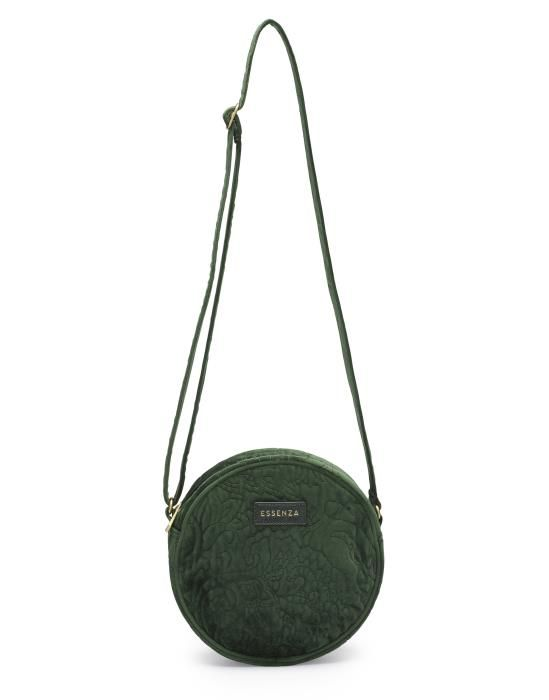 Essenza Reese Velvet Green Shoulder Bag One Size