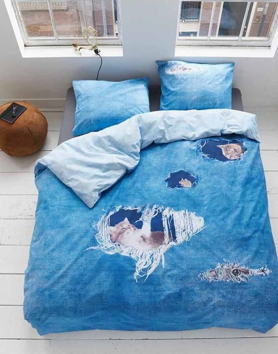 Covers & Co Ripped Jeans Blue Duvet cover 135 x 200