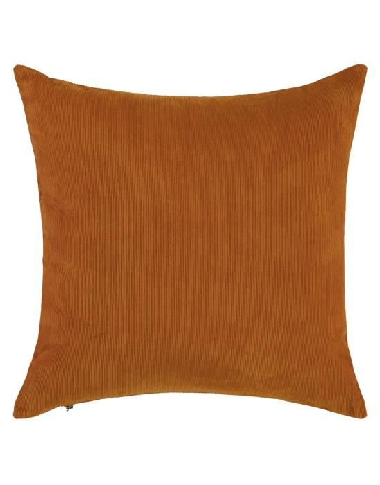 Essenza Riv Leather Brown Cushion square 45 x 45