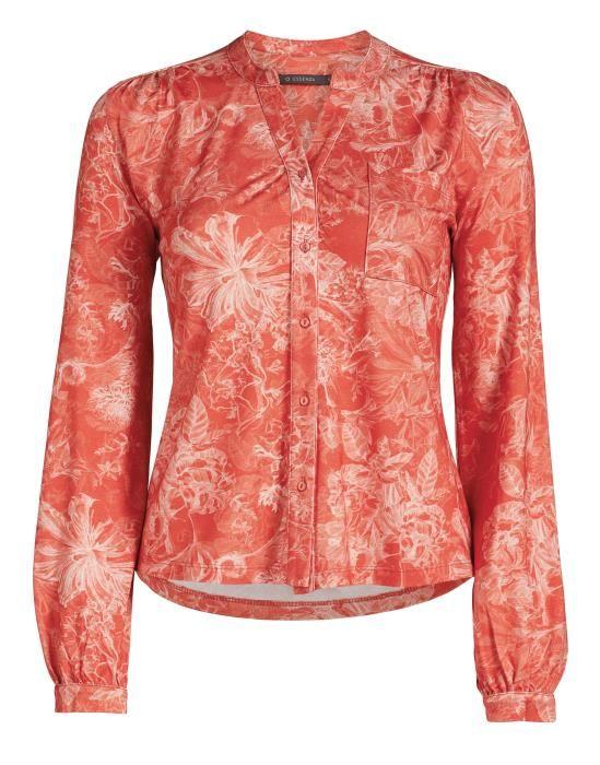 Essenza Sannah Vivienne Orange Pyjama top long sleeve XS
