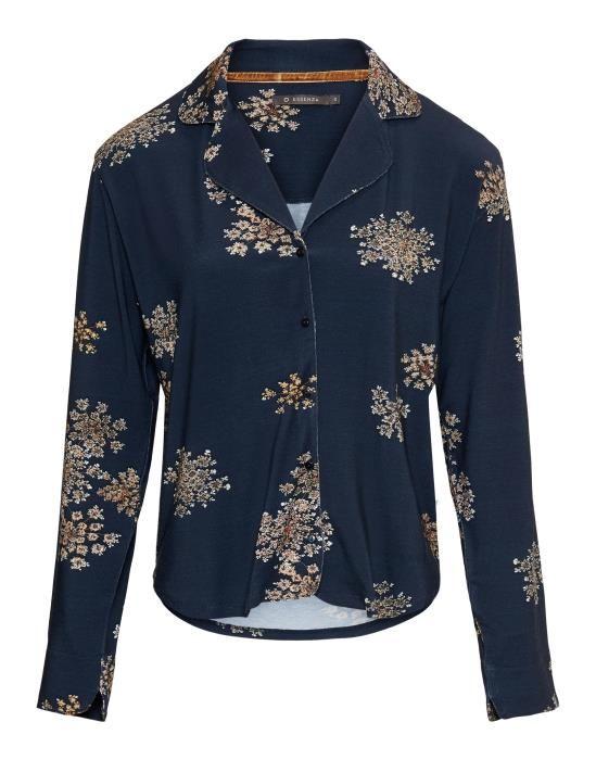 Essenza Senna Lauren Indigo blue Pyjama top long sleeve XS