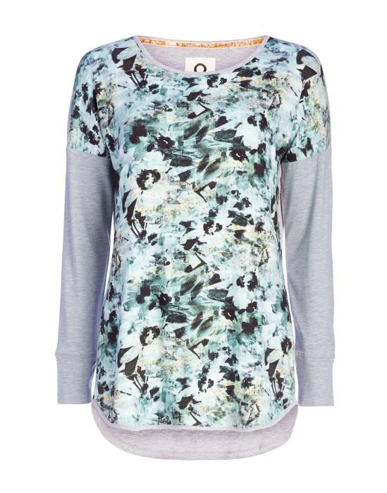 Essenza Spinel Bowi Green Top Long Sleeve XS