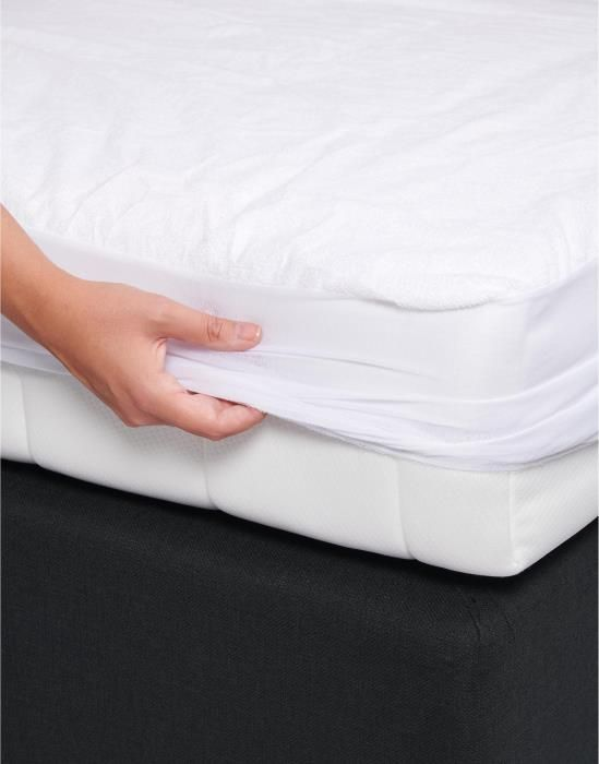 ESSENZA Waterproof 90c White Fitted sheet 80 x 200
