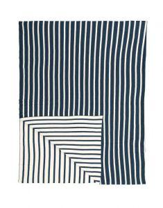 Marc O'Polo Arre Blau Plaid 130 x 170 cm