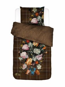 ESSENZA Beautiful Bouquet Brown Duvet cover 140 x 220