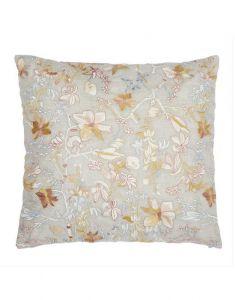 ESSENZA Brohna embroidered Beige Cushion square 45 x 45