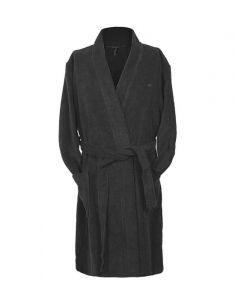 Marc O'Polo Classic bathrobe Anthrazit Bademantel S