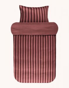 Marc O'Polo Classic Stripe Warm earth Duvet cover 140 x 220