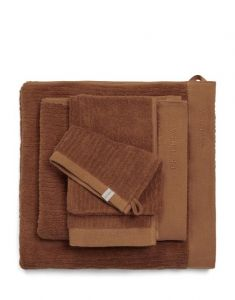 ESSENZA Connect Organic Uni Leather Brown Guest towel 30 x 50