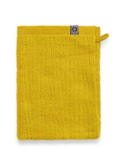 ESSENZA Connect Organic Lines Gelb Waschhandschuhe 16 x 22 cm