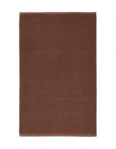 ESSENZA Connect Organic Uni Leather Brown Bathmat 60 x 100