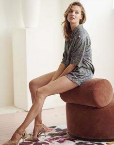 Essenza Dionne Giulia Laurel Green Top Short Sleeve M