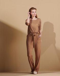 ESSENZA Donna Hannah Cashew Top 3/4 sleeve M