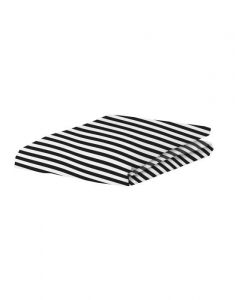 Covers & Co Earned My Stripes Black Fitted sheet 90 x 200