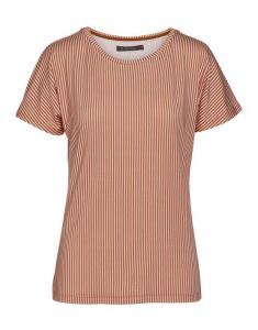 ESSENZA Ellen Striped Ginger Top Short Sleeve XL