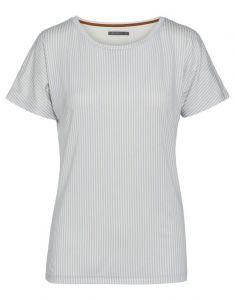 ESSENZA Ellen Striped Iceblue Top Short Sleeve XS