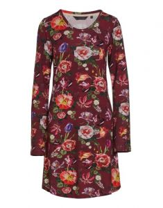 ESSENZA Elm Scarlett Wine red Nightdress long sleeve L