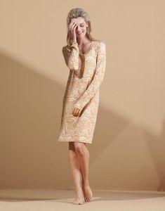 ESSENZA Emmy Halle Cashew Nightdress long sleeve M