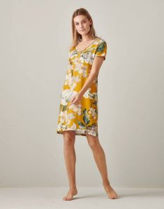 Essenza Emmylou Rosalee Yellow Nightdress short sleeve M
